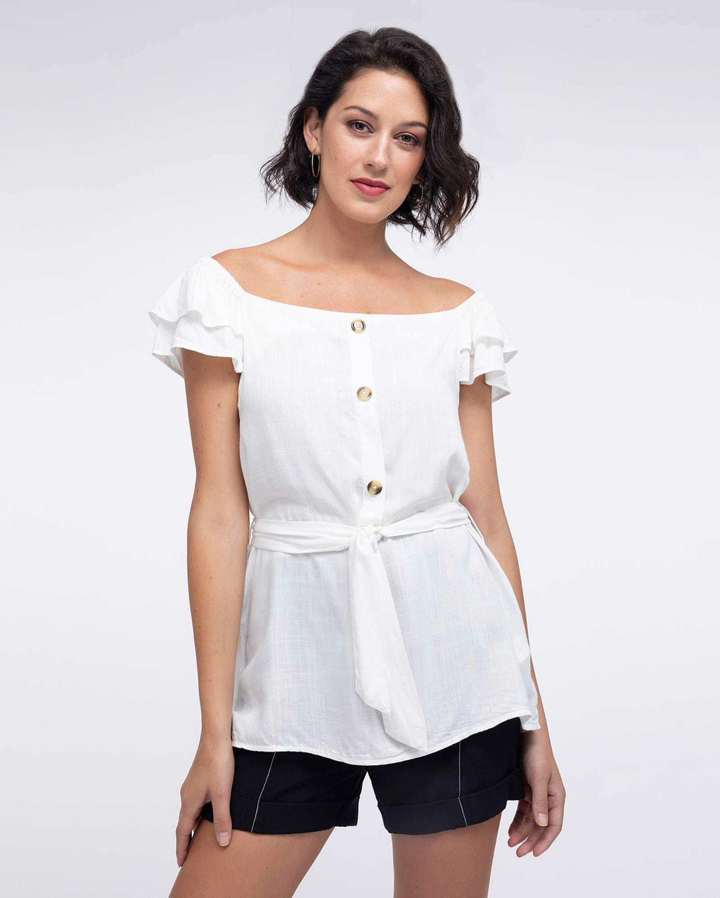 Blusa Strapless Mujer Blanco