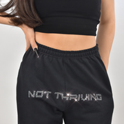 Not Thriving Black Joggers