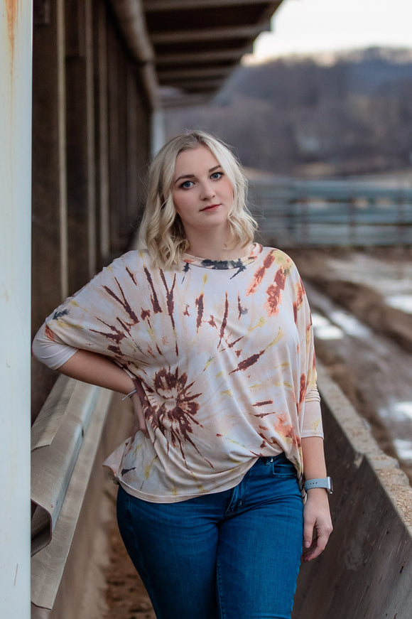Take it easy tie dye top
