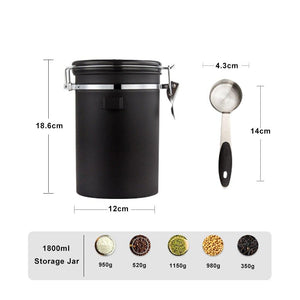 Stainless Steel Container with Date Tracker and CO2 valve - Evergreen Capsules