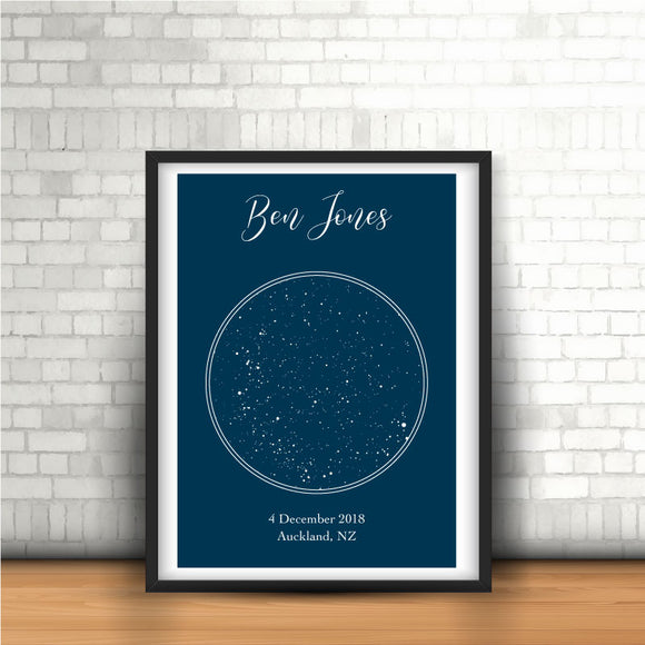Night Skies Star Map