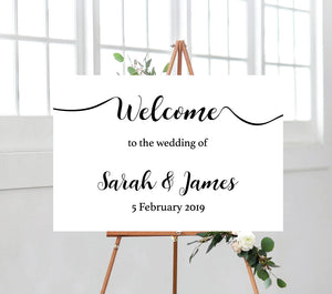 Calligraphy Welcome Sign - Landscape