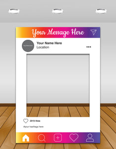 Instagram colours Instagram photo frame prop or selfie frame