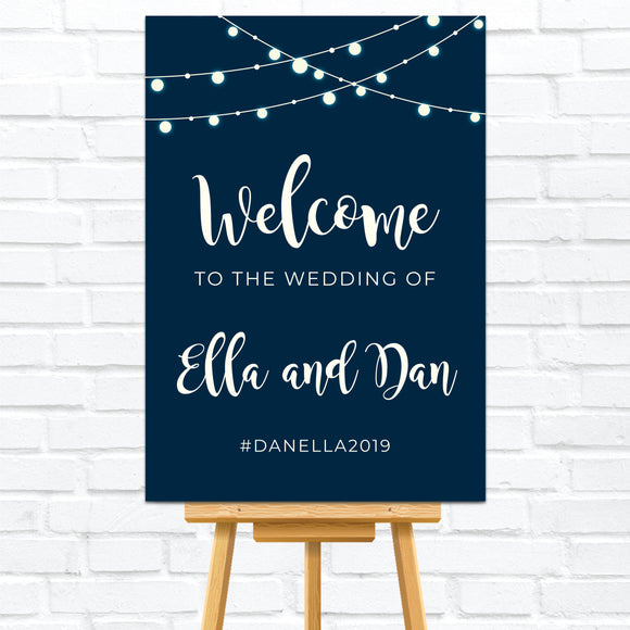 Fairy Lights Welcome Sign