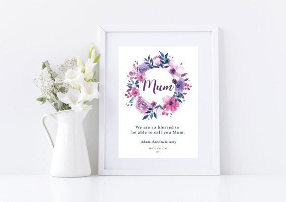 Floral Mother's Day Print