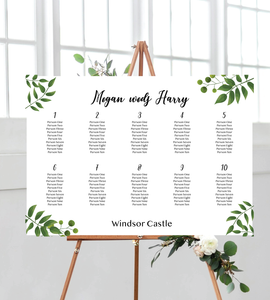 garden seating chart - landscape for wedding. ships from Auckland, New Zealand (NZ)