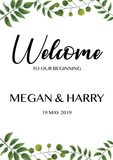 Garden welcome sign for weddings, birthdays, baby showers, engagements, anniversaries, etc. Ships from Auckland, New Zealand (NZ)
