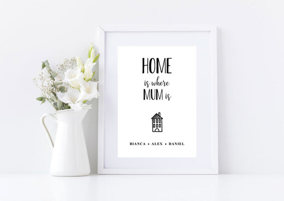 Home is Where Mum is Mother's Day Print