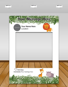 Jungle Kids Party Instagram photo frame prop or selfie frame