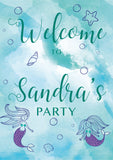 Mermaid/under the sea birthday party welcome sign. Ships from Auckland New Zealand (NZ)