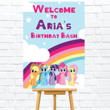 My Little Pony Welcome sign/poster/board. Perfect for My Little Pony Kids Party. Ships from Auckland, New Zealand (NZ)