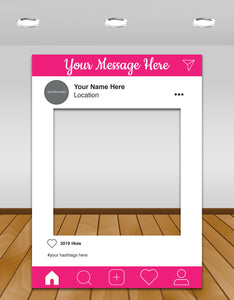 Pink Instagram photo frame prop or selfie frame