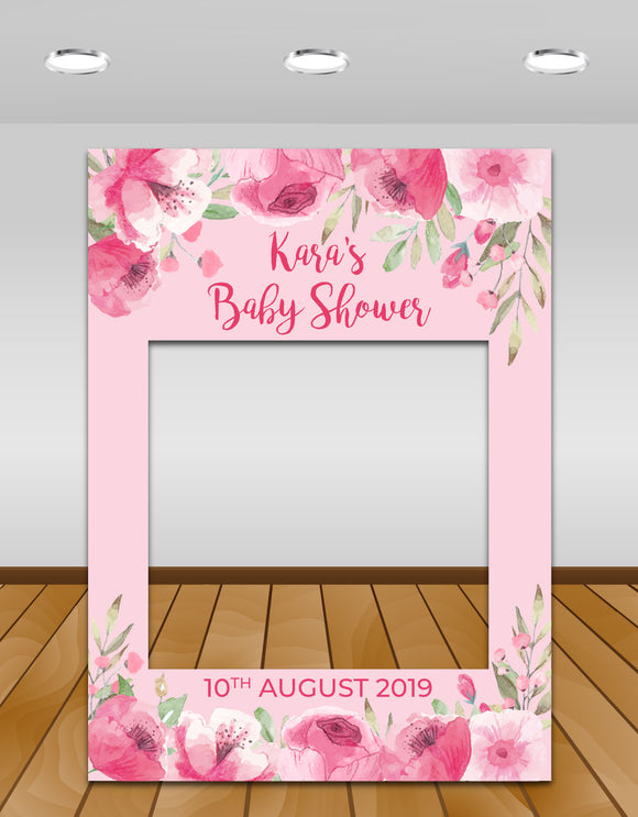 Pretty in Pink Baby Shower InstaFrame