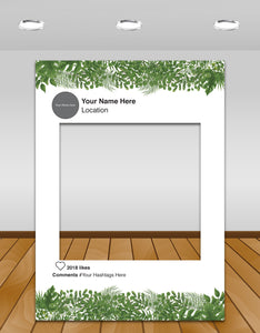 Green Leaves/Jungle Instagram photo frame prop or selfie frame