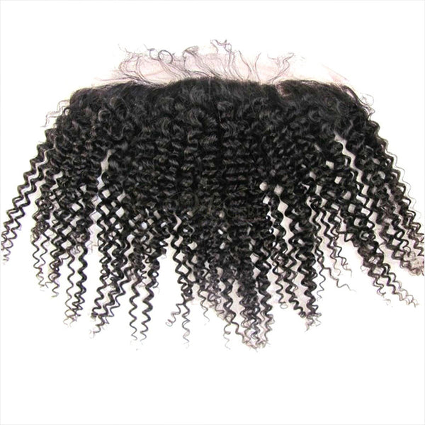 Kinky Curly (pre-plucked) Lace Frontal  4*13