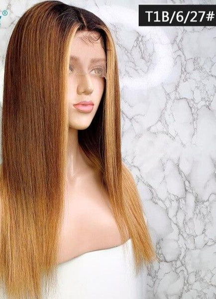 13x6 Straight Lace Front Human Hair Wigs Pre Plucked