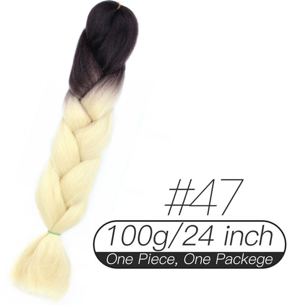 Afro Colored Synthetic Jumbo Braids Hair