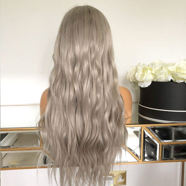 613 Blonde White Glueless  Body Wave Full Lace Wigs