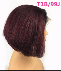 13 x 6 Short Bob Lace Front Human Hair Wig