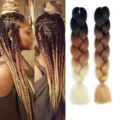 100g/pc Synthetic Ombre Braiding Hair