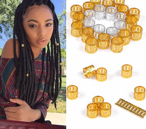 100 Pcs Dreadlock Beads