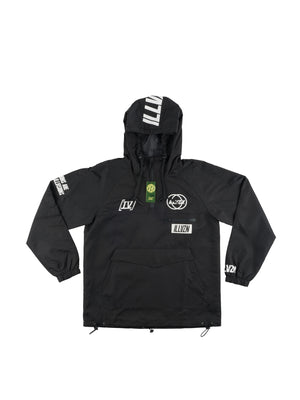ILLVZN BLACK WINDBREAKER