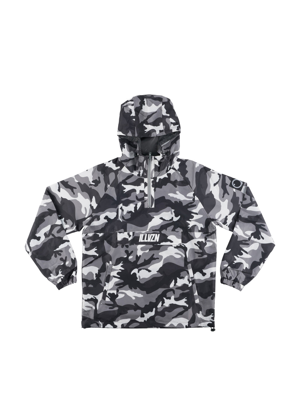 ILLVZN CAMO WINDBREAKER - GREY