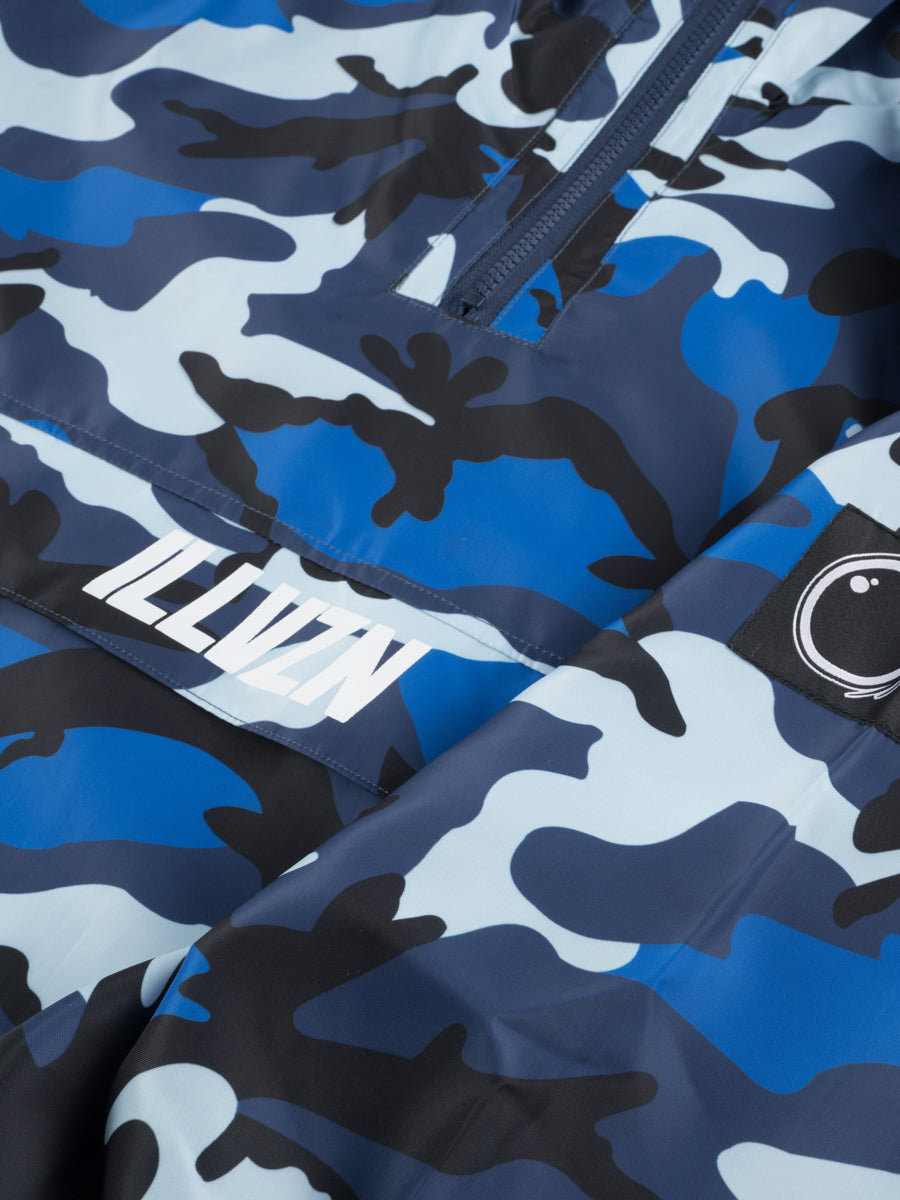 ILLVZN CAMO WINDBREAKER - BLUE