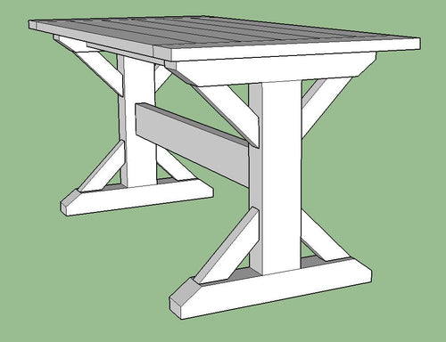 Custom Trestle Table