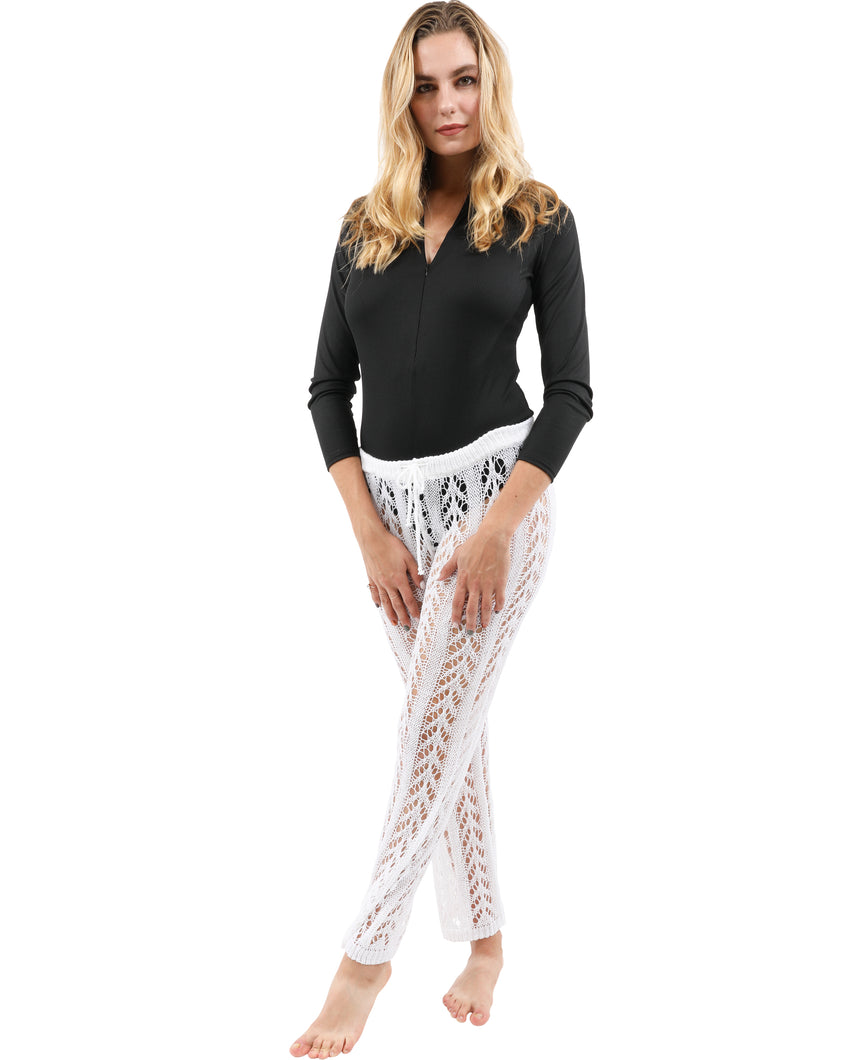 Kimridge Crochet Pant - White