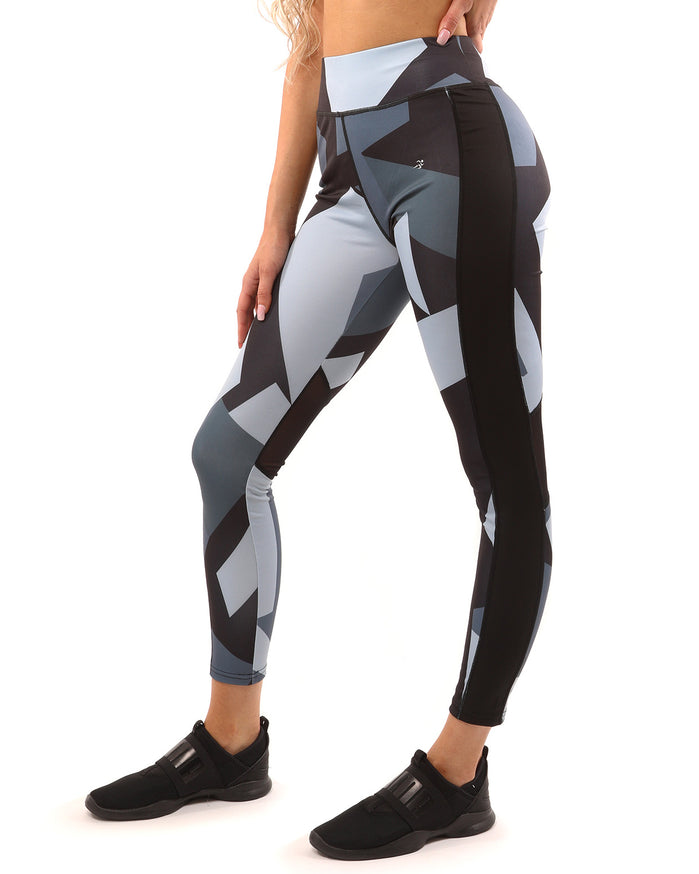 Load image into Gallery viewer, Bondi Set - Leggings & Sports Bra - Black/Grey - Savoy Active