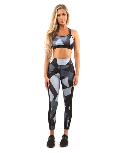 Bondi Leggings - Black/Grey - Savoy Active
