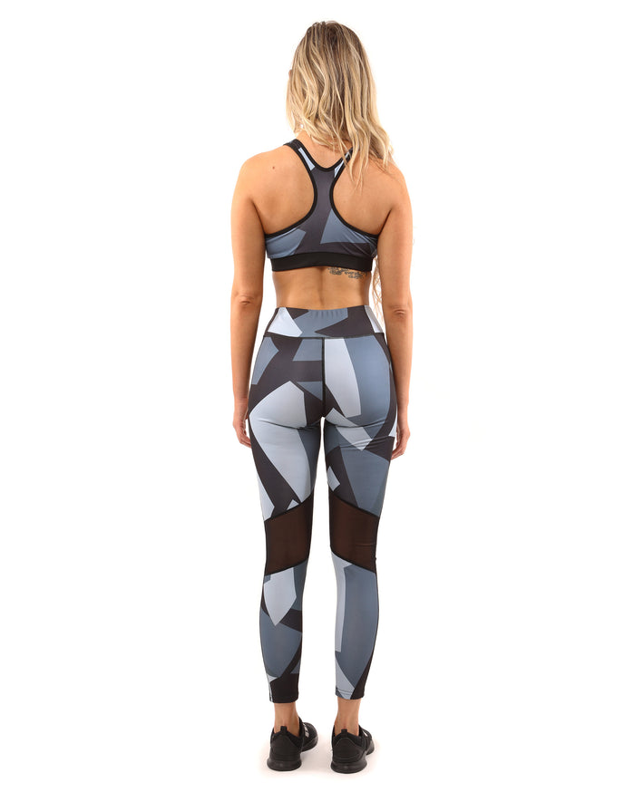 Load image into Gallery viewer, Bondi Sports Bra - Black/Grey - Savoy Active