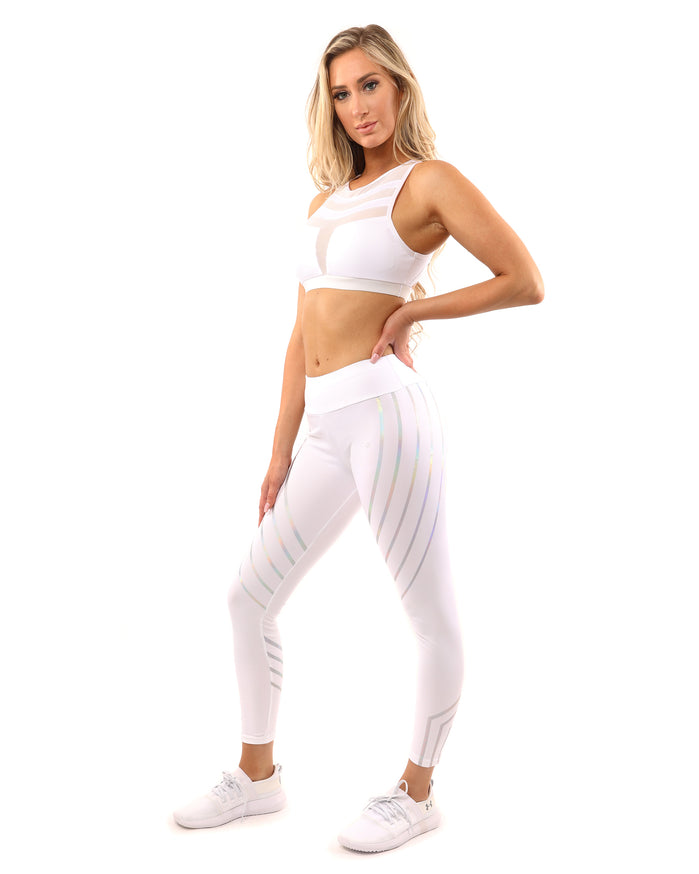 Load image into Gallery viewer, Laguna Set - Leggings & Sports Bra - White - Savoy Active
