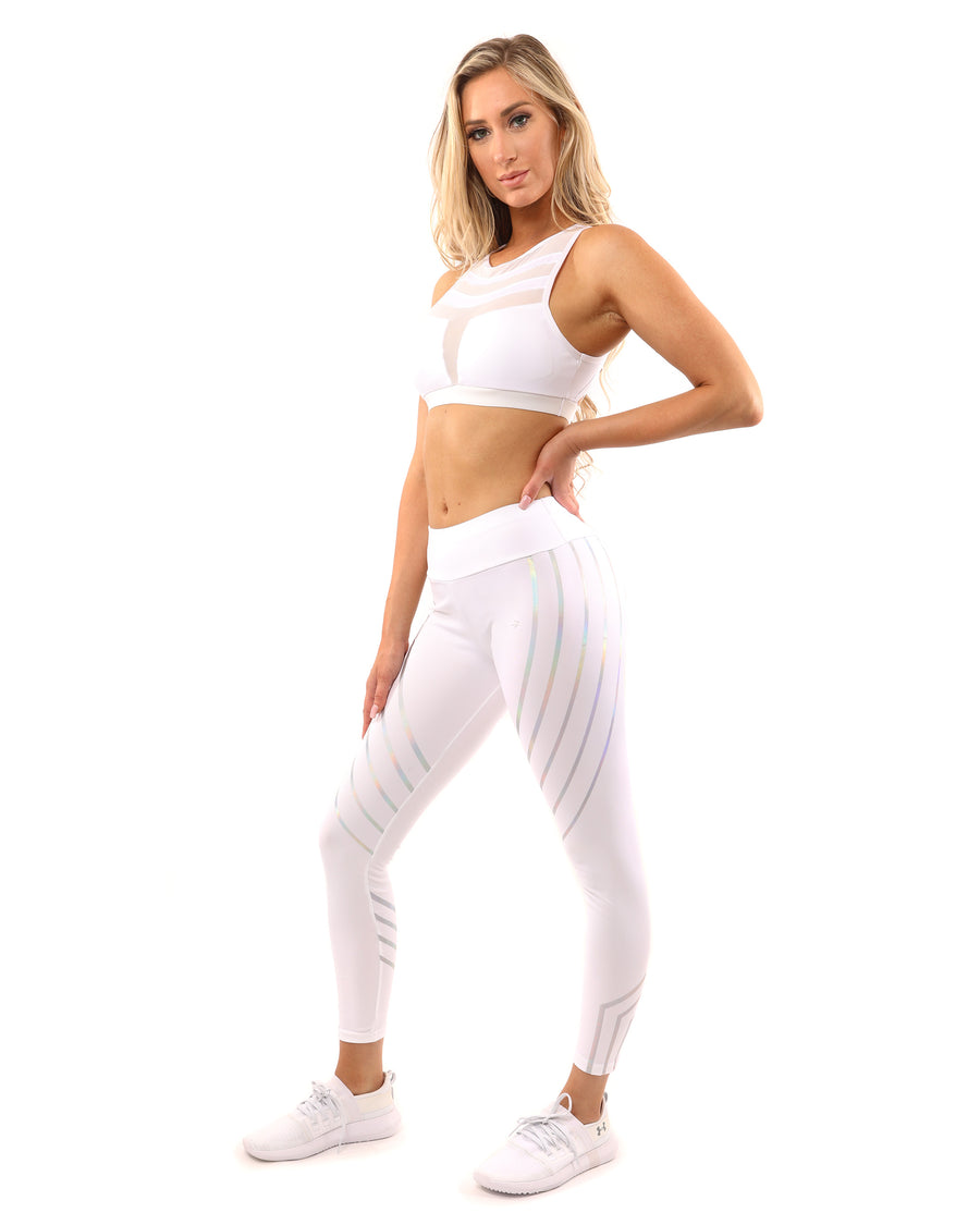 Laguna Set - Leggings & Sports Bra - White - Savoy Active