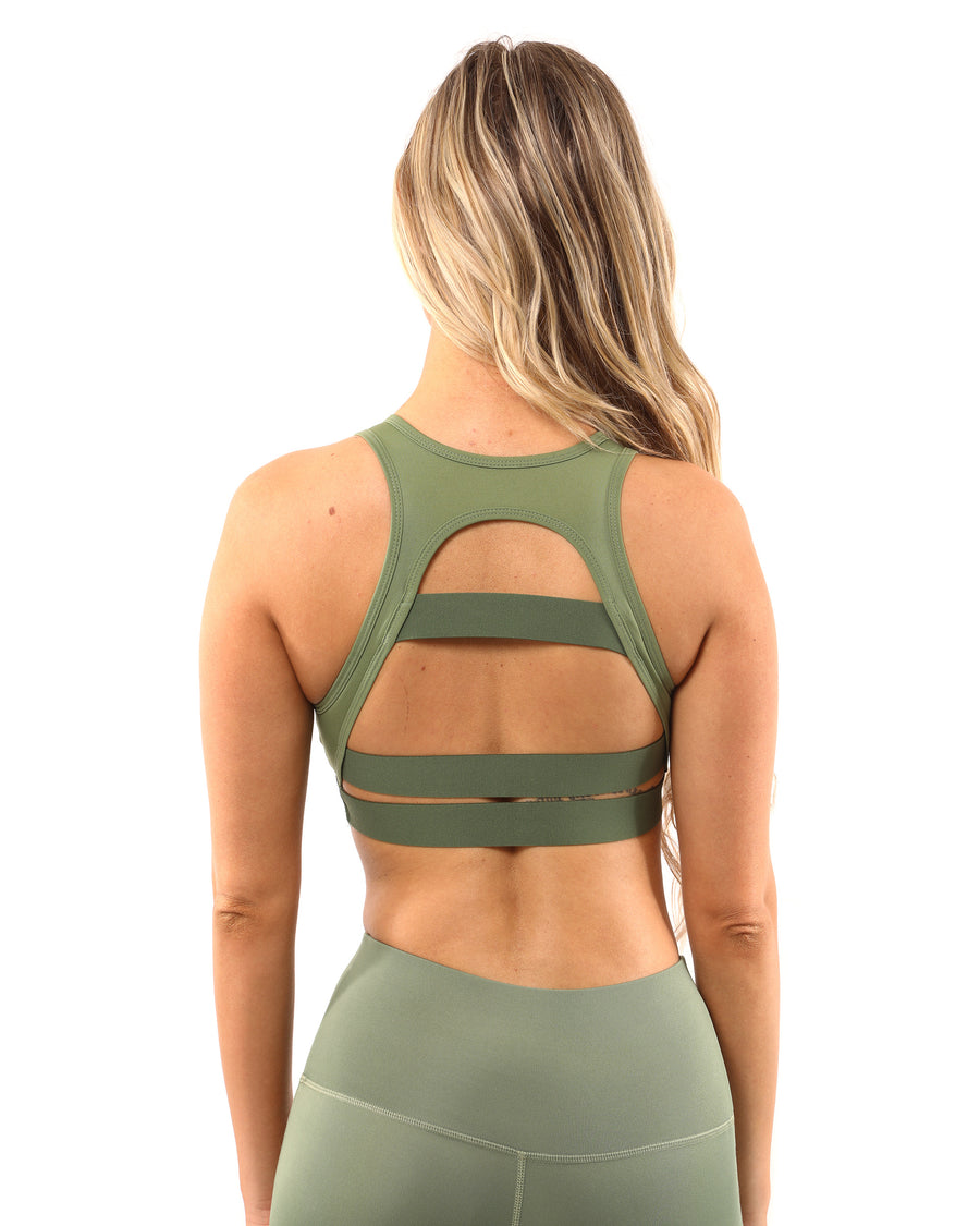 Huntington Sports Bra - Olive Green