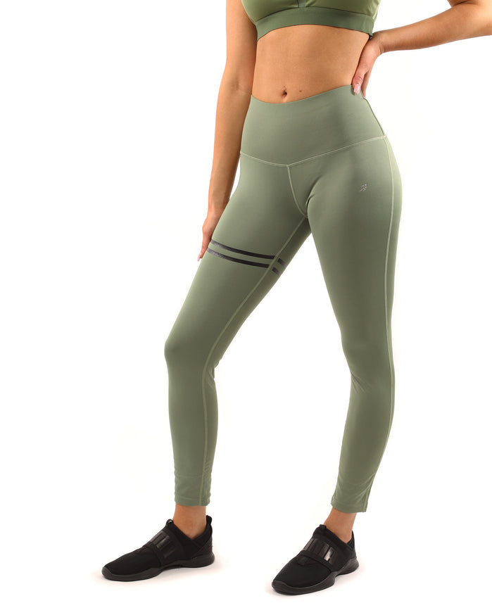 Load image into Gallery viewer, Huntington Set - Leggings & Sports Bra - Olive Green - Savoy Active