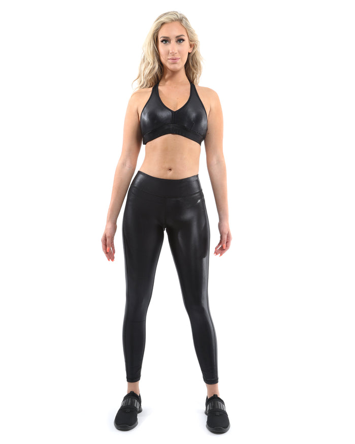 Load image into Gallery viewer, Cortina Activewear Sports Bra - Black [MADE IN ITALY] - Savoy Active