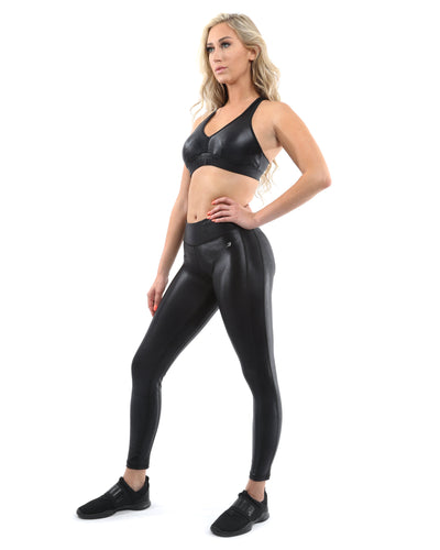 Cortina Activewear Sports Bra - Black [MADE IN ITALY] - Savoy Active