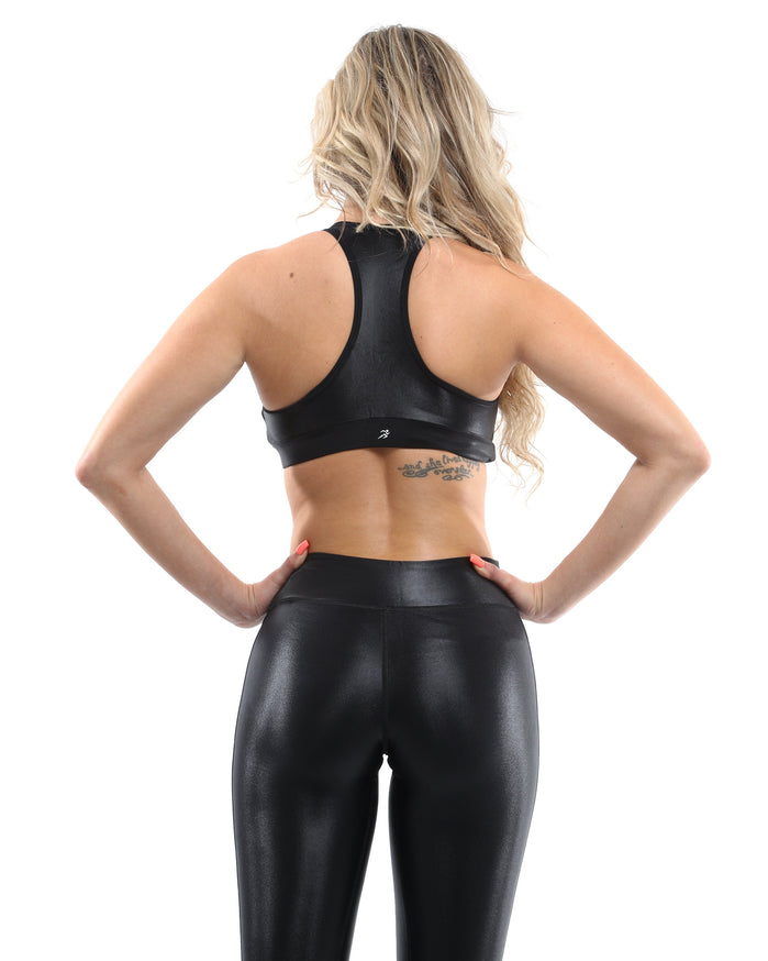 Load image into Gallery viewer, Cortina Activewear Set - Leggings & Sports Bra - Black [MADE IN ITALY] - Savoy Active