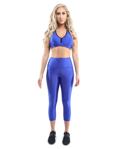 Firenze Activewear Sports Bra - Blue [MADE IN ITALY] - Savoy Active