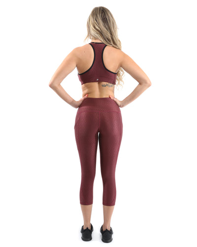 Verona Activewear Sports Bra - Maroon [MADE IN ITALY] - Savoy Active