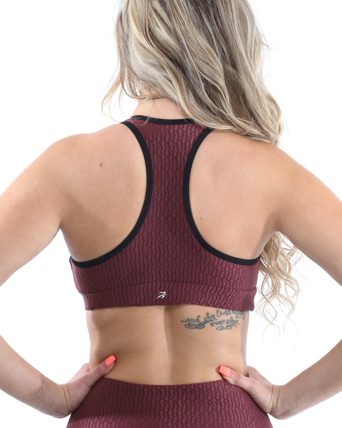 Load image into Gallery viewer, Verona Activewear Sports Bra - Maroon [MADE IN ITALY] - Savoy Active