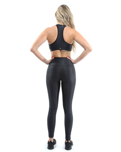Genova Activewear Set - Leggings & Sports Bra - Black [MADE IN ITALY] - Savoy Active