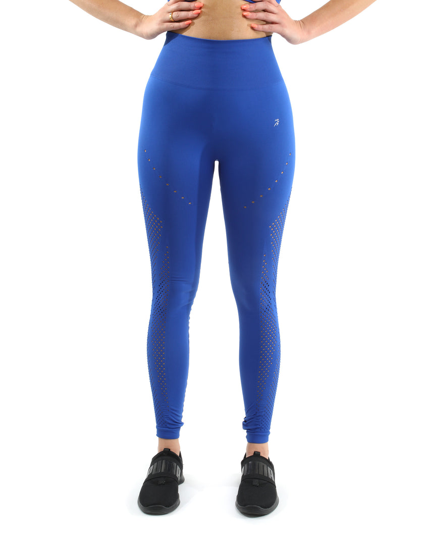 Milano Seamless Legging - Blue [MADE IN ITALY] - Savoy Active