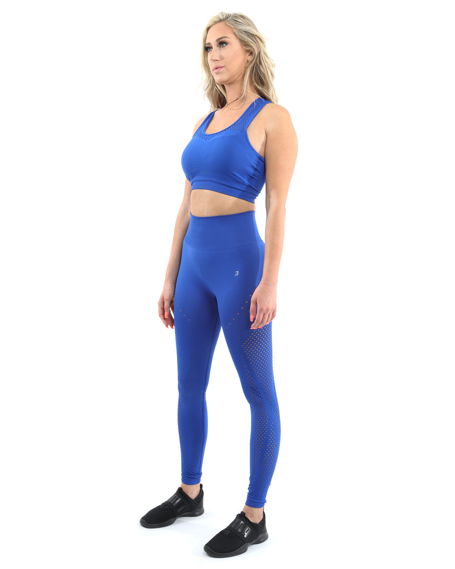 Milano Seamless Set - Leggings & Sports Bra - Blue [MADE IN ITALY]