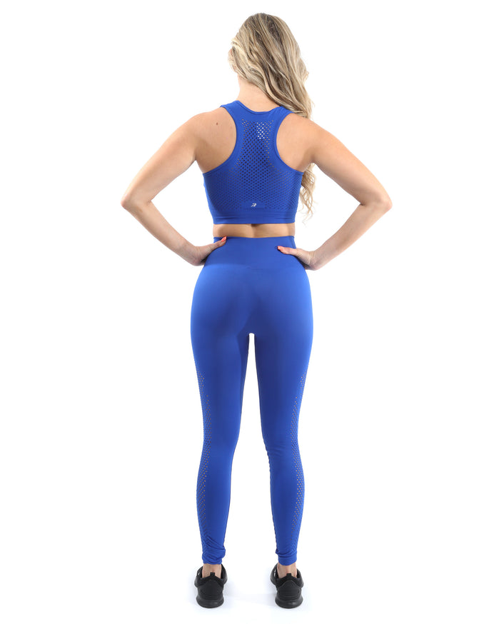 Load image into Gallery viewer, Milano Seamless Sports Bra - Blue [MADE IN ITALY] - Savoy Active