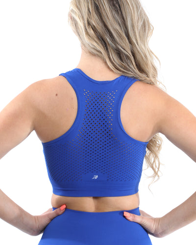 Milano Seamless Sports Bra - Blue [MADE IN ITALY] - Savoy Active