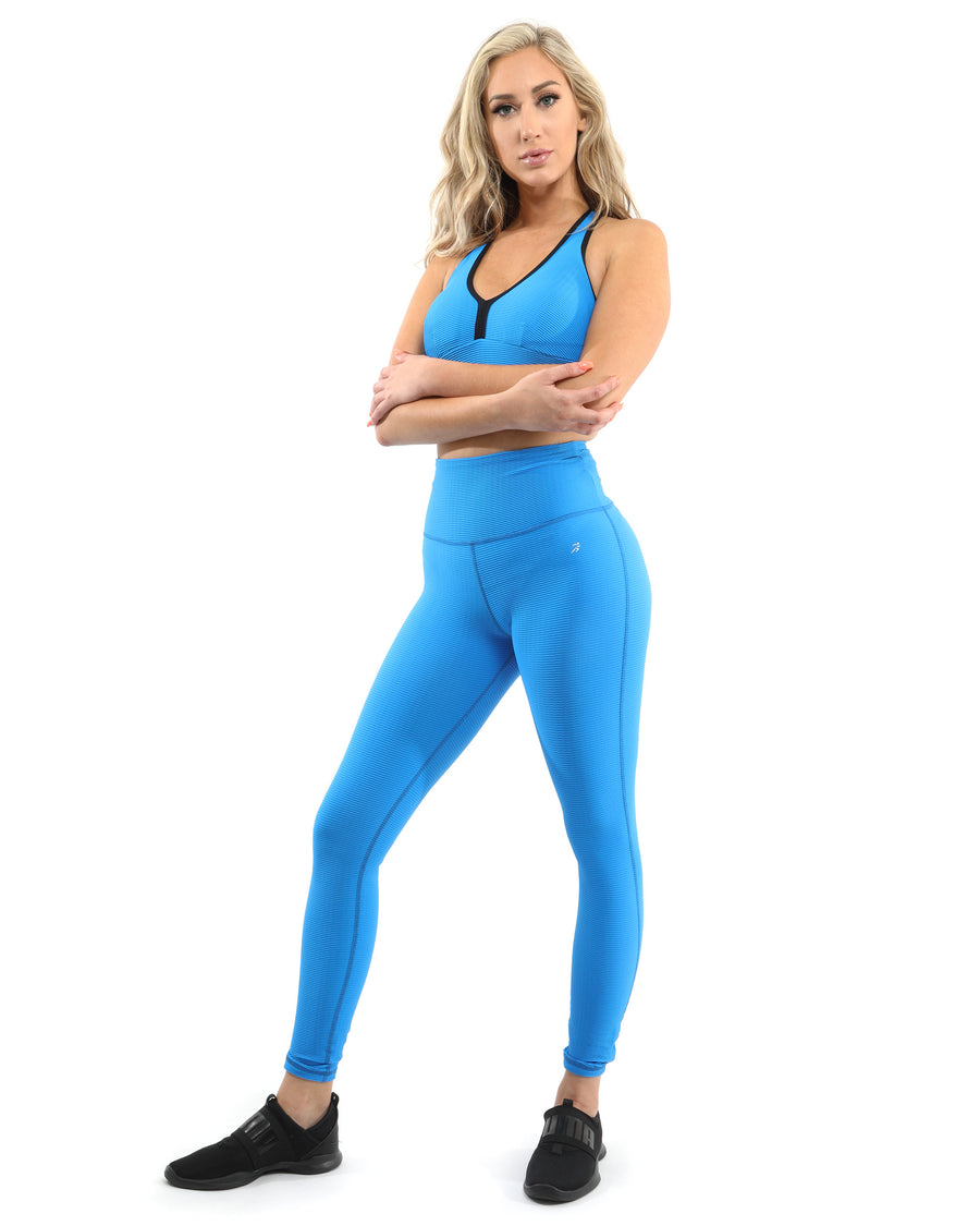 Positano Activewear Set - Leggings & Sports Bra - Aqua [MADE IN ITALY] - Savoy Active