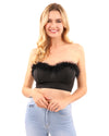 Pamela Fur Detail Crop Top
